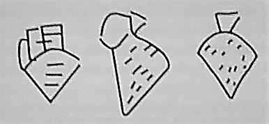Símbolo sumerios antiguos que representaban la cerveza.