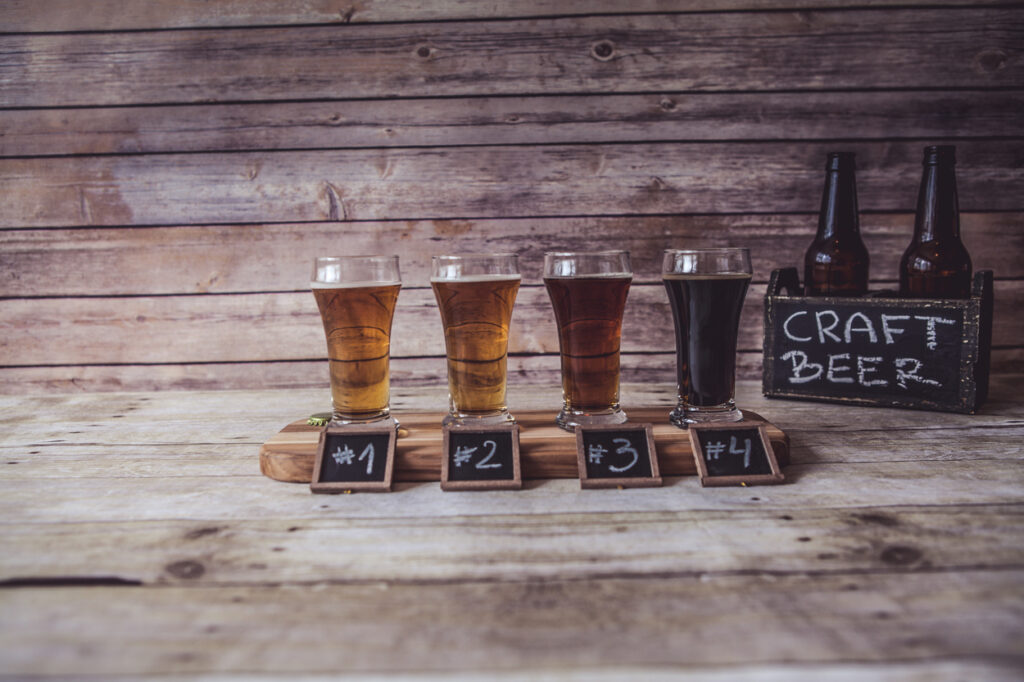 Variedades de cerveza artesana.