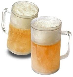 Vaso congelado para beber cerveza.
