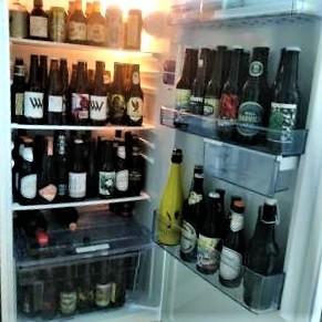 Nevera con cervezas