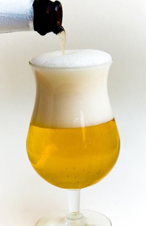 Espuma en cerveza